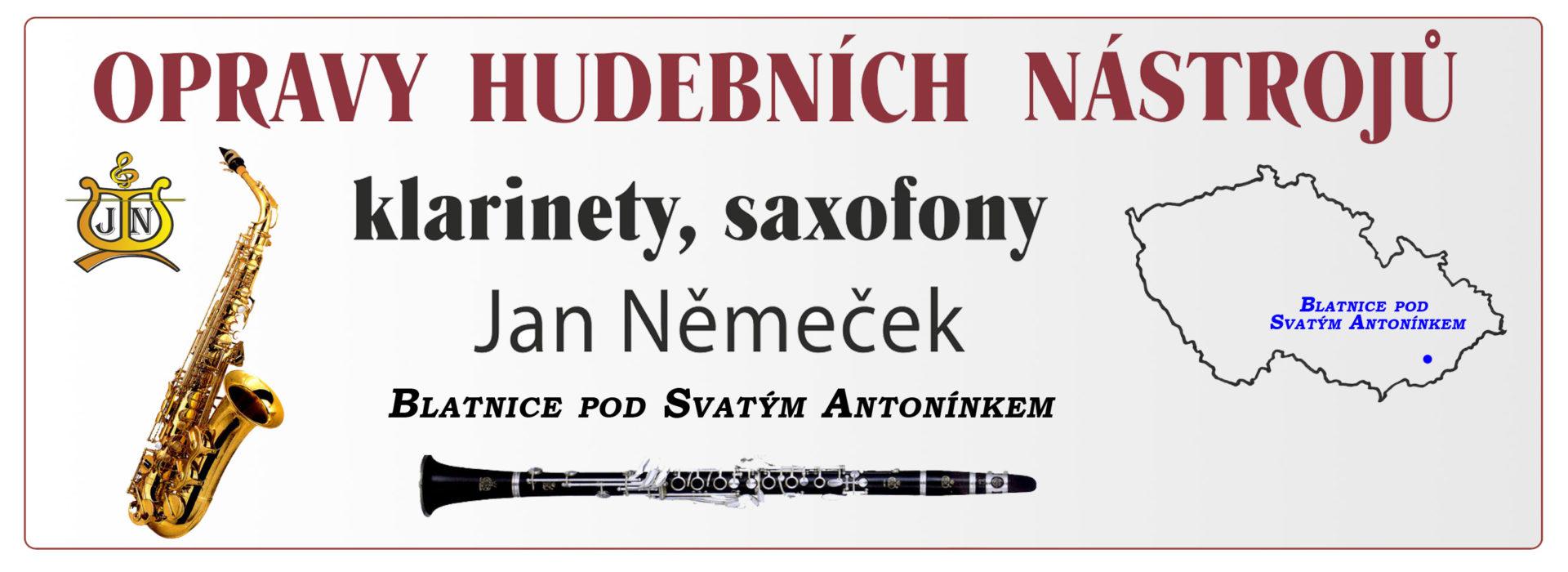 Jan Němeček, oprava dychových nástrojov
